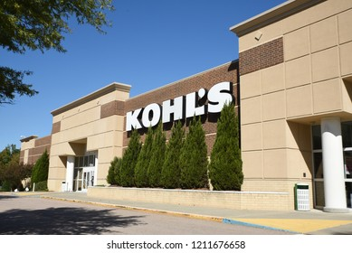 Raleigh, North Carolina/United States- 10/24/2018: The exterior of a Kohl's department store.