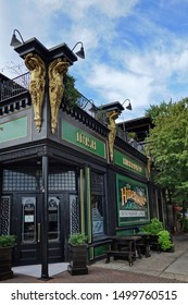 RALEIGH,NC/USA - 09-04-2019: The Hibernian Irish Pub in the Glenwood South neighborhood near downtown Raleigh