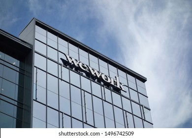 RALEIGH,NC/USA - 09-04-2019: wework offices, which offers shared coworking space for individuals and companies