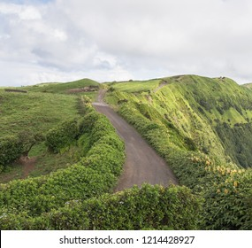 Rally route at the volcano lake Sete Cidades / Azores