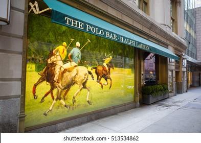 Ralph Lauren Polo bar exterior - March 8, 2016, 55th Street, New York City, NY, USA