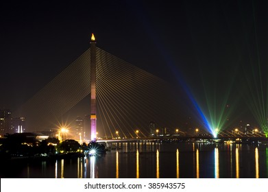 The Rama 8 bridge, Bangkok, Thailand