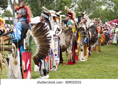 RAMA, ONTARIO/CANADA - AUGUST 23, 2015:  30th Annual Chippewas of Rama First Nation Powwow.