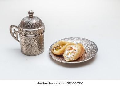 Ramadan Birthday Dessert made of katayef