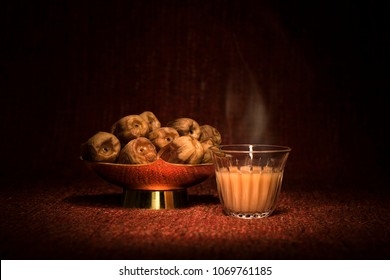 Ramadan dates with arabian coffee