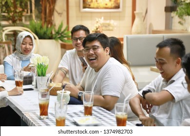 ramadan families fasting people group. yogyakarta indonesia. april 20, 2019.
