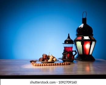 ramadan food, traditional muslim culture food for ramadan kareem night, prayer for Allah by fasting food and consumed after sunset during Holy month of Ramadan