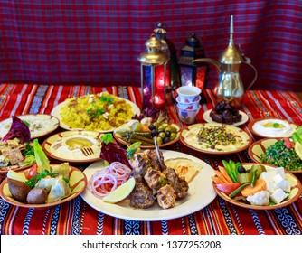 Ramadan Iftar Buffet food served