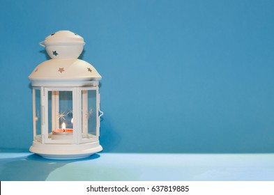 Ramadan Kareem with blue background, Ramadan lantern, Lamp photography, Ramadan Festival, Generous Ramadan