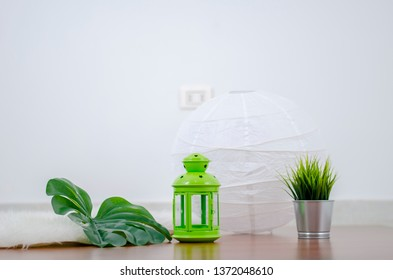 Ramadan Kareem, Lamp with Grass