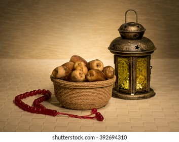Ramadan lamp with dates