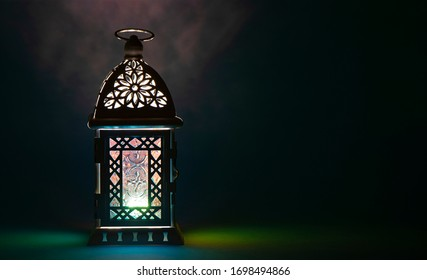 Ramadan lantern in the dark