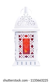 Ramadan lantern isolated. Arabic decoration lamp on white background.