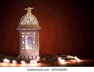 Ramadan lantern with lights