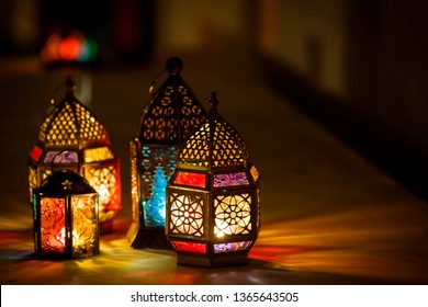 Ramadan lantern welcoming Ramadan Kareem