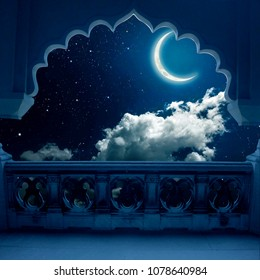 ramadan mubarek wih good view balcony