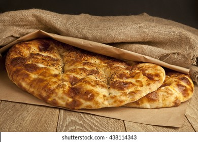 Ramadan Pita (Ramazan Pidesi) Traditional Turkish bread for holy month Ramadan.