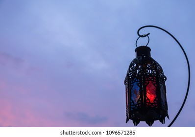 Ramadhan or Eid lantern in at dawn.
