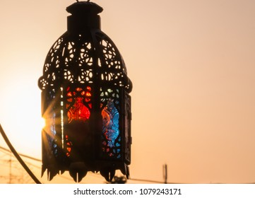 Ramadhan or Eid lantern in the morning light