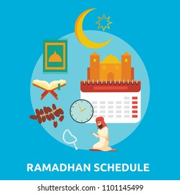 Ramadhan Schedule Conceptual Icon