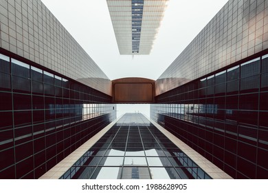 Ramat Gan, Israel - April 2, 2021: Modern business building in Ramat Gan