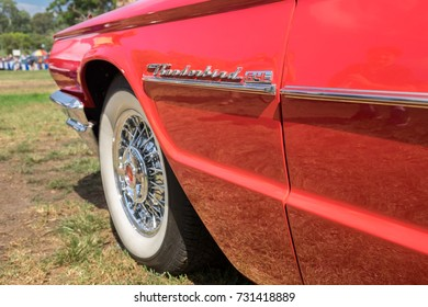 RAMAT-GAN, ISRAEL - OCTOBER 6, 2017: 1960s Ford Thunderbird 6.4L presented on annual oldtimer car show, Israel
