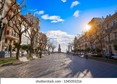 Rambla Nova in Tarragona avenue of Catalonia