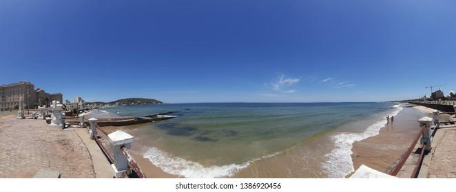 Piriápolis Ramble Rambla Uruguay Summer Tourism water sea ocean Landscape Background