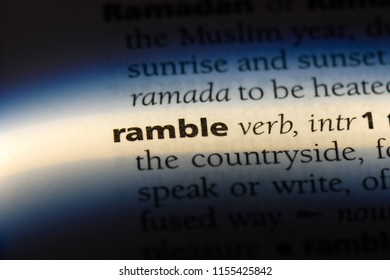 ramble word in a dictionary. ramble concept.