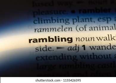 rambling word in a dictionary. rambling concept.