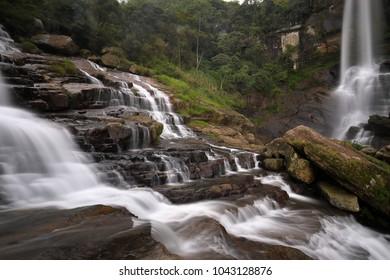 The Ramboda waterfall at Kandy in Sri Lanka