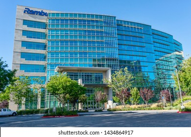 Rambus headquarters building at Technology Corners Moffett Park in Silicon Valley - Sunnyvale, California, USA - June 23, 2019