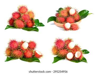 rambutan fruit isolated on white background