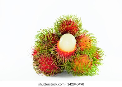 Rambutan isolate on white background