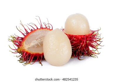 rambutan isolated on the white background .