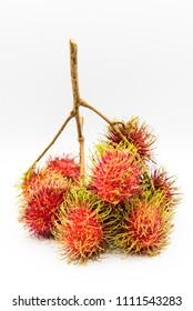 rambutan, Negrito, Semang, sweet Thai fruit . isolated on white background