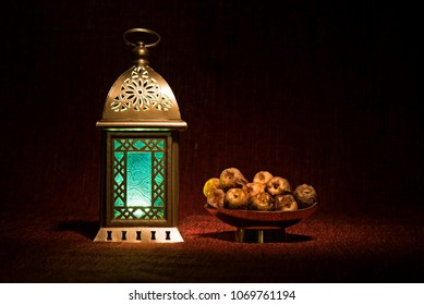 Ramdan dates with a lantern