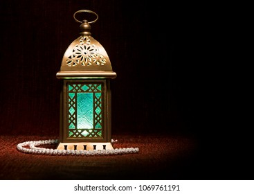 Ramdan lantern with rosary
