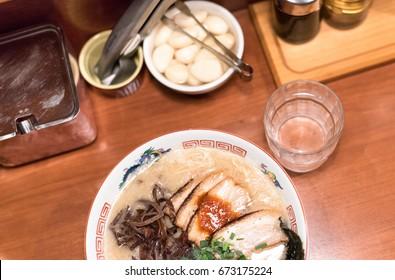 Ramen in Japanese ramen shop
