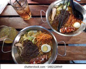 ramen noodle food with beef