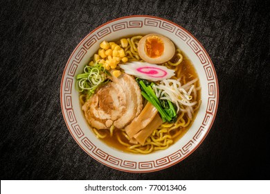 Ramen set of typical Japanese style