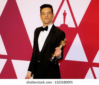 Rami Malek at the 91st Annual Academy Awards - Press Room held at the Hollywood and Highland in Los Angeles, USA on February 24, 2019.