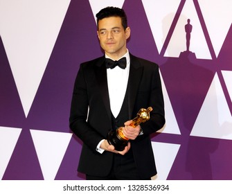 Rami Malek at the 91st Annual Academy Awards - Press Room held at the Loews Hotel in Hollywood, USA on February 24, 2019.