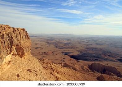 Ramon crater in the Negev desert, Israel