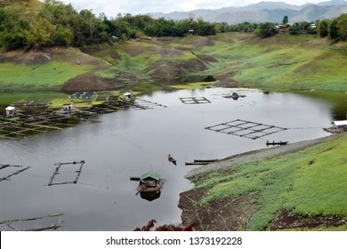 Ramon, Isabela, Philippines - April 15, 2019: Fishing village community in Magat Dam lake where people rely for livelihood