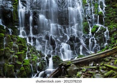Ramona Falls Oregon on a summer day near Mt. Hood.
