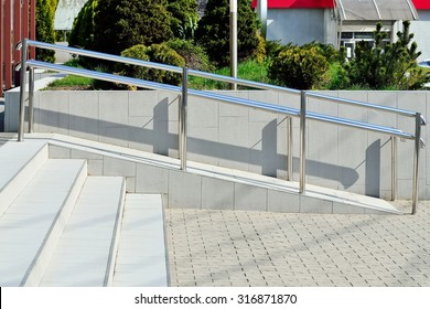 Ramp for wheelchair entry