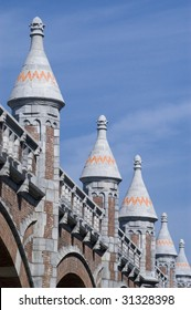 Ramparts along the train line to the central station in Antwerp, Belgium