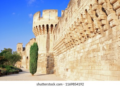 Ramparts of the city of Avignon in Provence, France