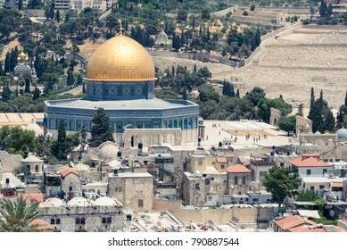 At the Ramparts Walk in Jerusalem, Israel